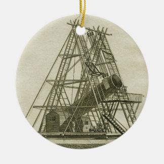 Ornement Rond En Céramique XVIIIème siècle antique d'ÉQUIPEMENT de la SCIENCE