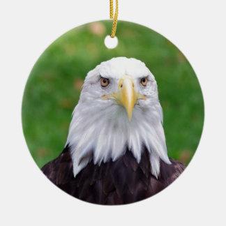 Ornement Rond En Céramique Yeux d'Eagle chauve