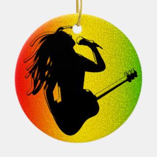 Ornement rond standard de Rastafarian de reggae