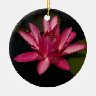 Ornement rose de fleur de nénuphar de Lotus