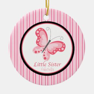 Ornement rose de papillon de petite soeur