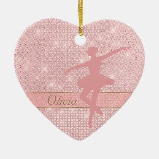 Ornement rose de Valentine de ballerine de
