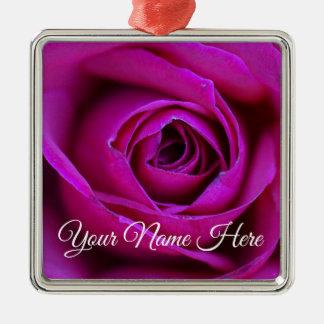 Ornement rose personnalisé