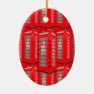 Ornement rouge britannique de cabine de téléphone