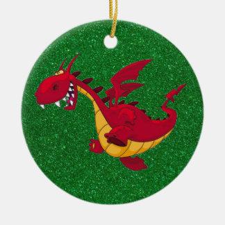 ornement rouge de dragon