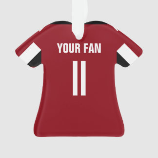 Ornement rouge et noir du football du Jersey