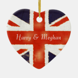Ornement royal de coeur de Harry et de mariage de