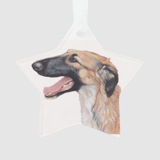 Ornement russe d'étoile d'art de chien de