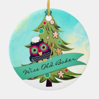ornement sage de Noël d'arbre de biscuit de