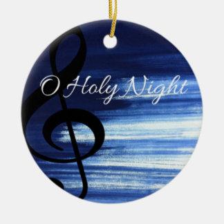 Ornement saint de Noël de nuit d'O
