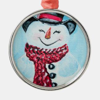 Ornement souriant de bonhomme de neige
