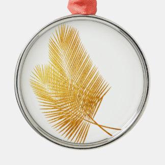 Ornement tropical en feuille de palmier d'or