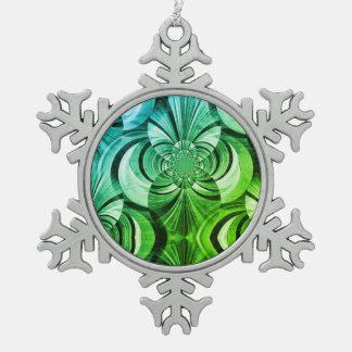Ornement vert de remous