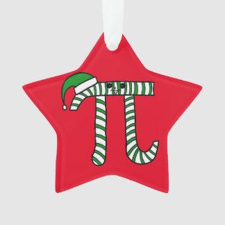 Ornement vert mignon de maths de Noël pi (dos de