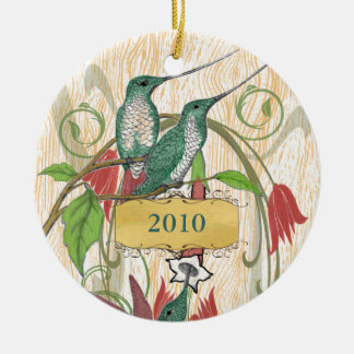 Ornement vintage de colibris