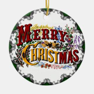 Ornement vintage de Joyeux Noël