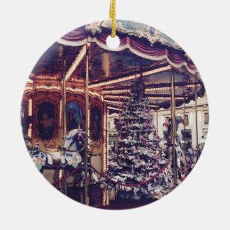Ornement vintage de Noël de carrousel
