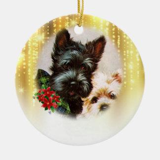Ornement vintage de Noël de chien
