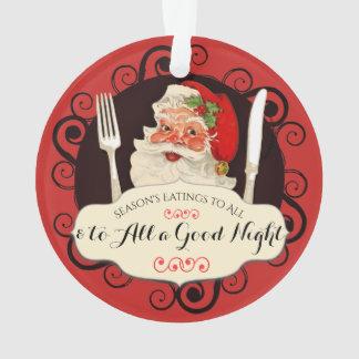 Ornement vintage de Noël de fin gourmet