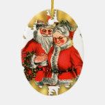 Ornement vintage de Noël de M. et de Mme le père n