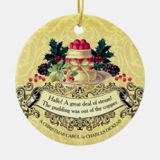 Ornement vintage de Noël de nourriture de pudding