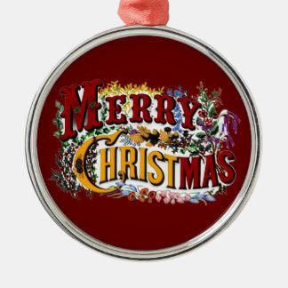 Ornement vintage de prime de Joyeux Noël