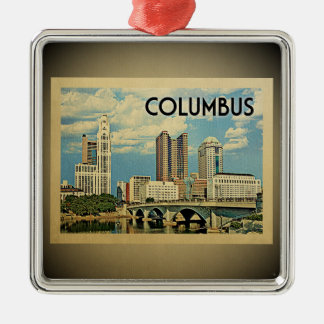 Ornement vintage de voyage de Columbus Ohio