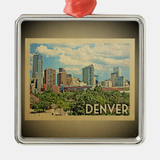 Ornement vintage de voyage de Denver le Colorado