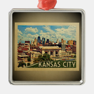 Ornement vintage de voyage de Kansas City Missouri