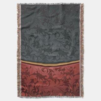 Ornement vintage rouge et noir couverture