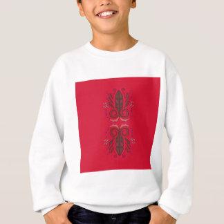 Ornemente le cru rouge-brun sweatshirt