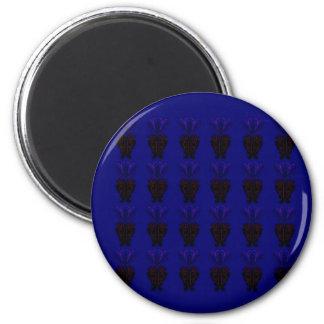 Ornements bleus et noirs aimant