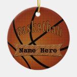 Ornements de basket-ball personnalisés par cru