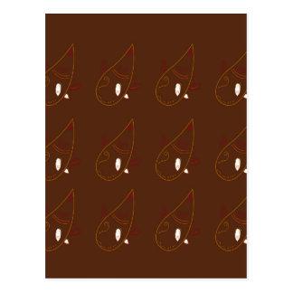 Ornements de Brown de henné de Mehndi. Édition de Carte Postale
