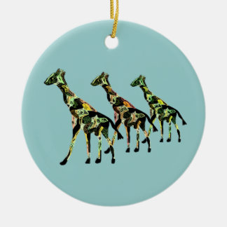 Ornements de famille de girafe