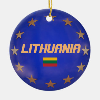 Ornements de la Lithuanie E.U. Flag Christmas