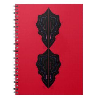 Ornements de luxe rouges carnet