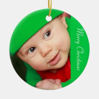 Ornements de Noël de photo avec le bébé