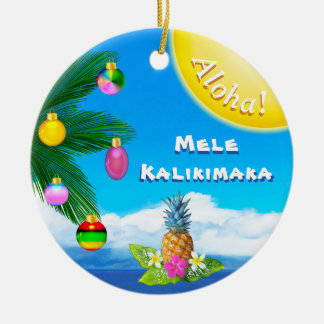 Ornements gais de Mele Kalikimaka, 2 dégrossis