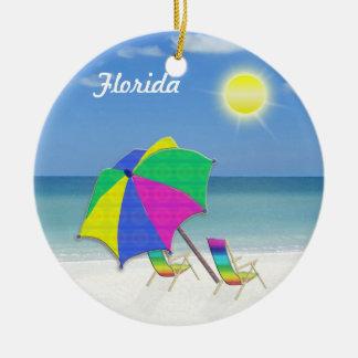 Ornements orientés tropicaux de Noël de la Floride