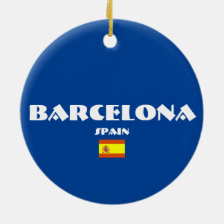 Ornements ovales de Noël du football de Barcelone