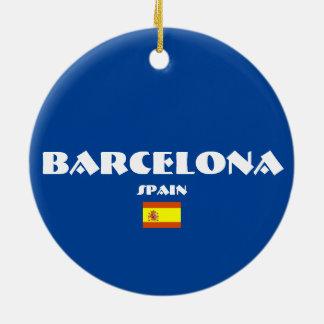 Ornements ovales de Noël du football de Barcelone