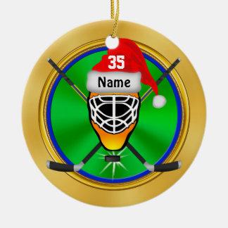 Ornements personnalisés drôles de Noël d'hockey