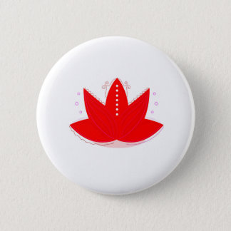 ORNEMENTS TIRÉS PAR LA MAIN ROUGES DE LOTUS D'OR BADGES