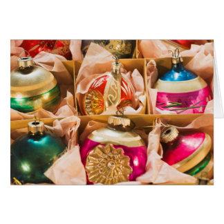Ornements vintages de Noël Carte De Vœux