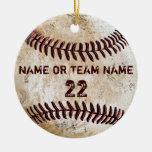 Ornements vintages personnalisés de base-ball