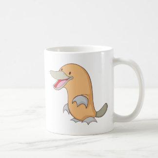 Ornithorynque heureux mug blanc