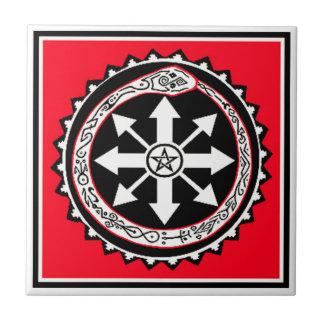 Oroburos avec l'étoile de chaos petit carreau carré