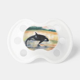 Orque dans la baleine de saut 0-6 mois de tétine