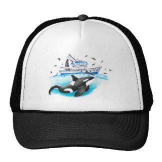 Orque et le bateau casquette